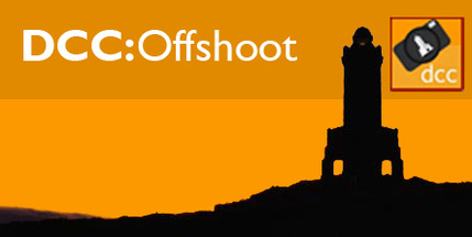Offshoot Logo (silhouetted Darwen Tower with DCC:Offshoot text)